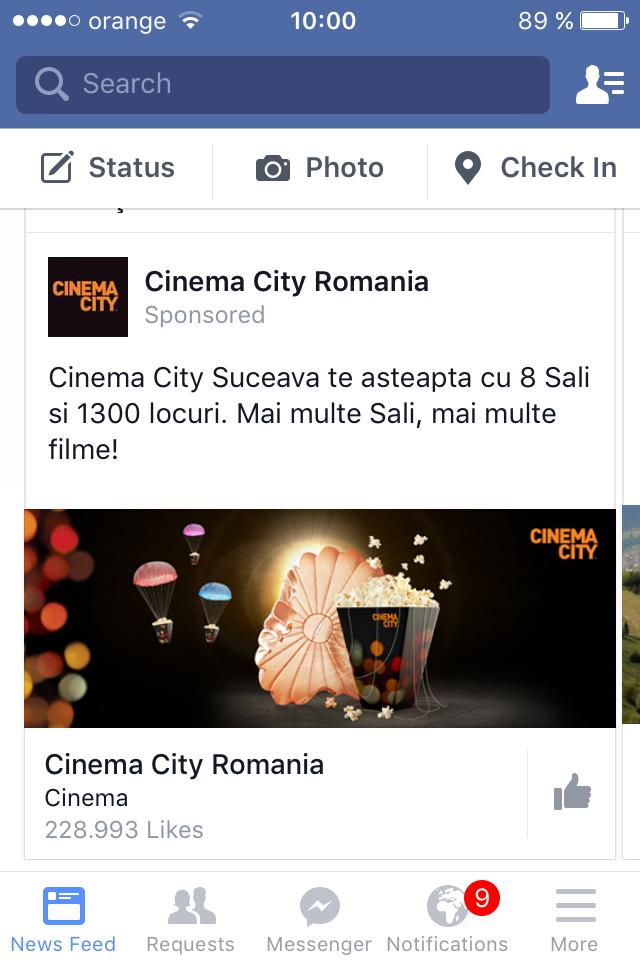 Cinema City Suceava vs. Limba Română