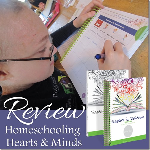readers in residence review at Homeschooling Hearts & Minds