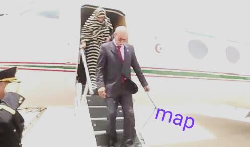 صور خاصة لوصول الرئيس الصحراوي للمشاركة في قمة موريتانيا