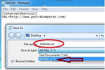 Cara Membuat Internet Shortcut Website
