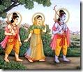 [Rama-Sita-Lakshmana in forest]