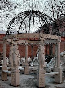 Column, Dome, Exterior, Gazebo, Gazebos, Ideas, Landscape Decor, Statue