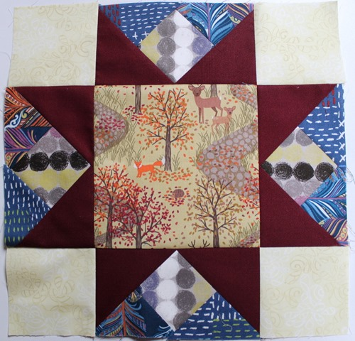 Autumnal Star Quilt Block by Kim Lapacek