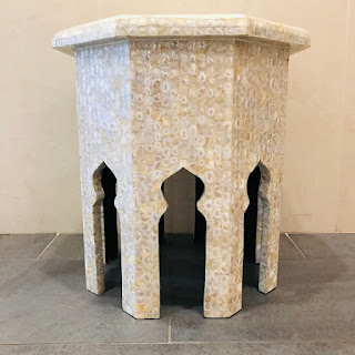 Jamie Young Atlas Mother of Pearl Side Table #1