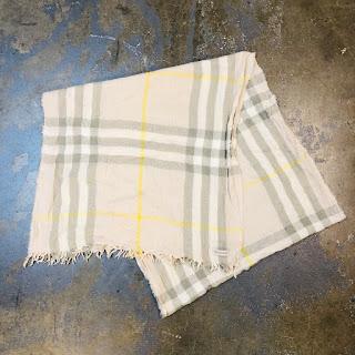 Burberry Crinkle Wool Scarf