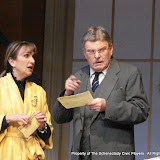 Benita Zahn and Richard Harte in THE ROYAL FAMILY (R) - December 2011.  Property of The Schenectady Civic Players Theater Archive.