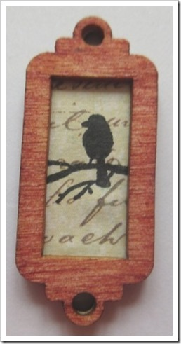 Tiny Wooden Bird Tag Decoration. b