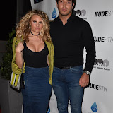 OIC - ENTSIMAGES.COM - Danielle Armstrong and James Lock at the NUDESTIX - launch party celebrating the launch of a new lip line from the cosmetic brand  in London  2nd June  2016 Photo Mobis Photos/OIC 0203 174 1069