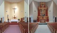 Before and After: Our Lady of Grace, South Houston, Texas
