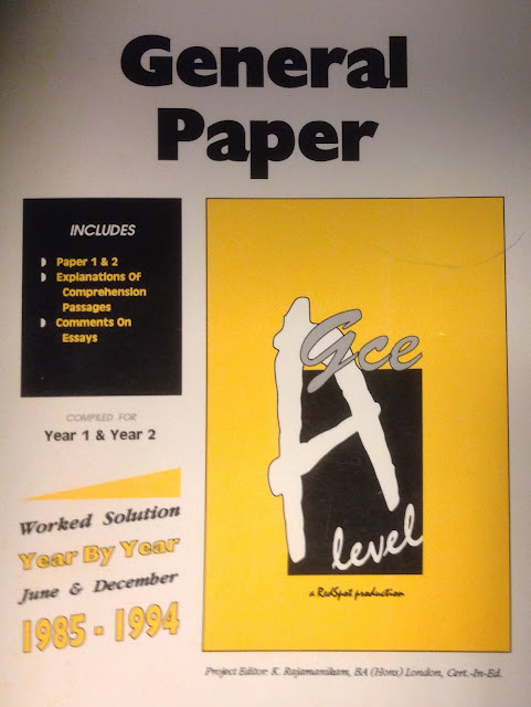 gce a level general paper essays Percentage of gce a-level students who passed general paper or knowledge and inquiry.