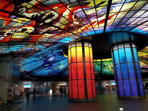 Magnificent Dome of Light at Formosa Boulevard Station Kaohsiung