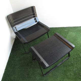 Contemporary Lounge Chair and Ottoman