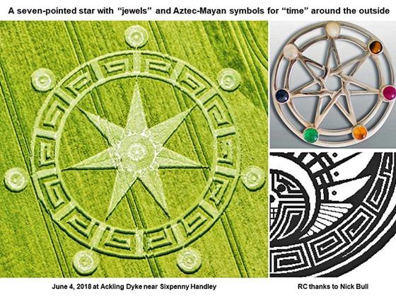Símbolo do Círculo de Colheita dos Sete Anjos do Apocalipse na Terra 07