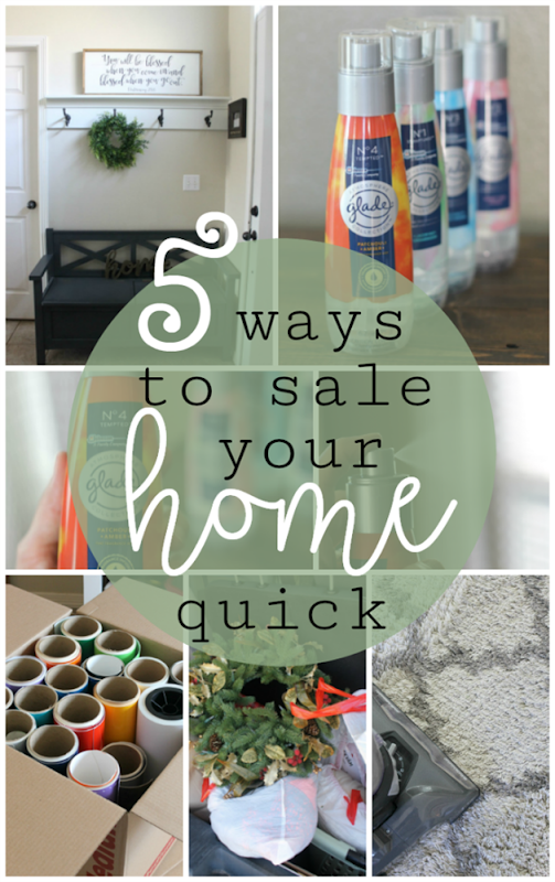 5 Ways to Sale Your Home Quick at GingerSnapCrafts.com #homeforsale #homebuyingtips