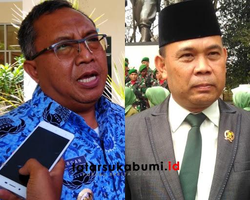 Bupati Sukabumi Marwan Hamami dan Ketua DPRD Kabupaten Sukabumi Agus Mulyadi // Foto : TatarSukabumi.ID