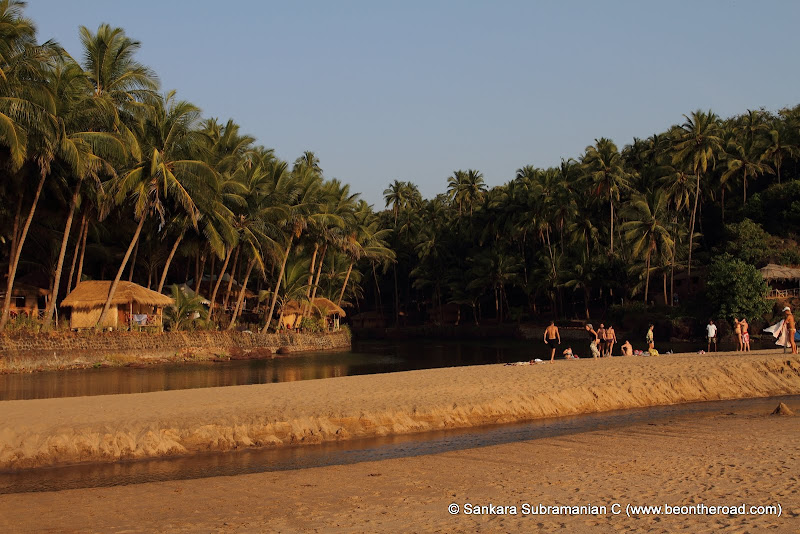 Cola beach and its own small river