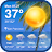 Daily weather forecast & weather report widget Icône