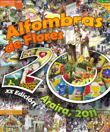 Afiche Alfombras de Flores Araira 2011