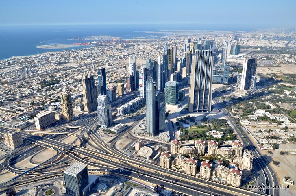 Widok z Burj Kalifa (południowy-wschód)