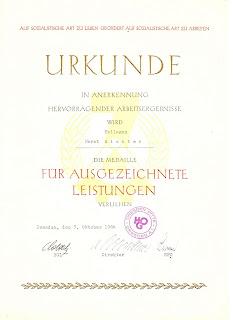126-64 Medaille für ausgezeichnete Leistungen 1964 www.ddrmedailles.nl