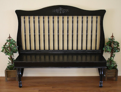 Bench from side of crib