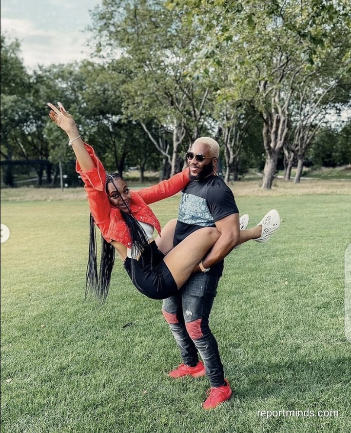 Check out playful photos of BBNaija's Lilo and Kiddwaya together in a garden (Photos)