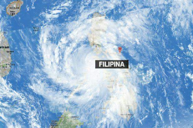 Taufan Sarika @ Typhoon Sarika, sedikit sebanyak mempengaruhi keadaan cuaca negara
