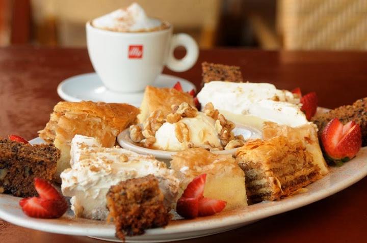 dessert platter, Taverna Opa Orlando