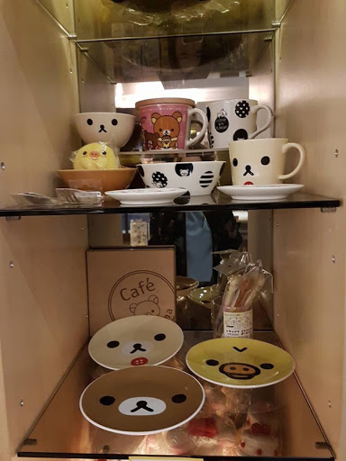 Cups and plates from Rilakkuma Cafe in Taipei