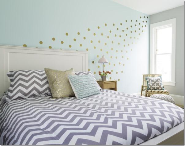 Camera ragazza in verde acqua e grigio case e interni - Camera da letto verde mela ...