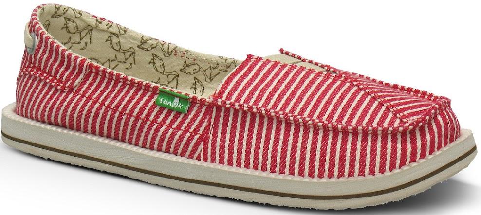 *Sanuk 春風直條紋懶人鞋:幸福的送子鳥與女孩們打招呼喔! 5