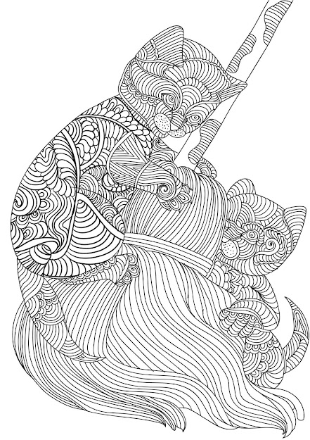 Mandala Cat Coloring Pages With Bcabfcfbccfbbe