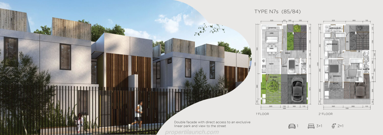 Rumah Asera Nishi Harapan Indah Bekasi Tipe N7S