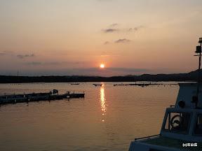 2009/8/25の夕日です。あたりをピンク色に染めますね~