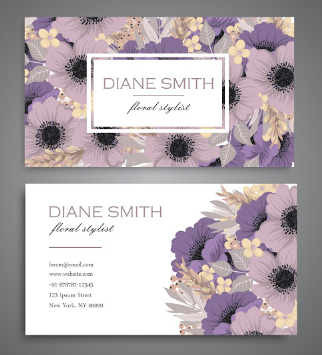 Membuat Kartu Nama Untuk Usaha Bunga   Templates Design Gratis