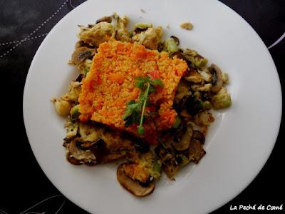 Cuscús con zanahorias y pimientos