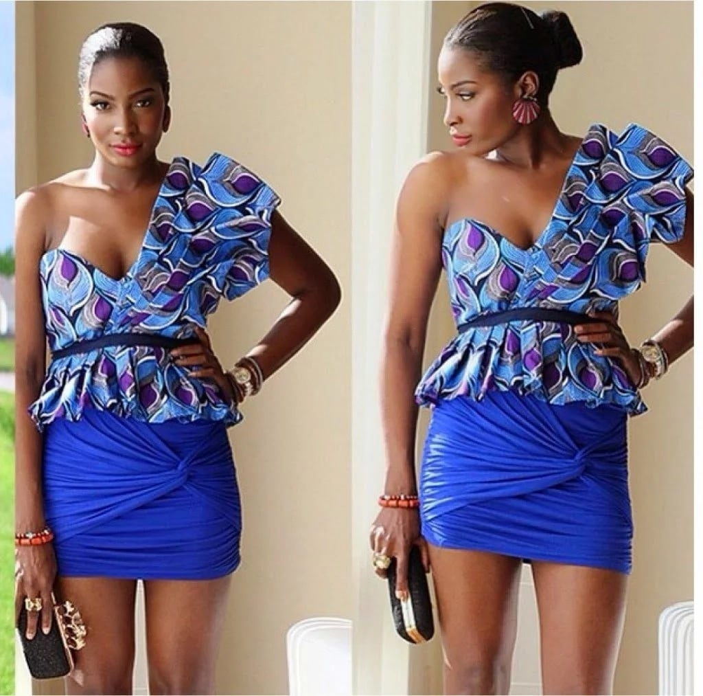 Ankara skirt and blouse style for wedding in south Africa 2