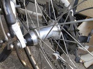 自転車のリアハブ