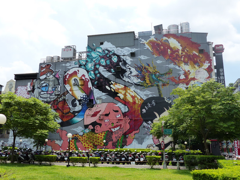Taipei. Street art à Ximen et Youth park - P1250132.JPG