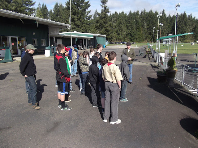 Safety Briefing on the Trap Range.