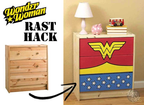 Wonder Woman Painted Dresser Rast Hack