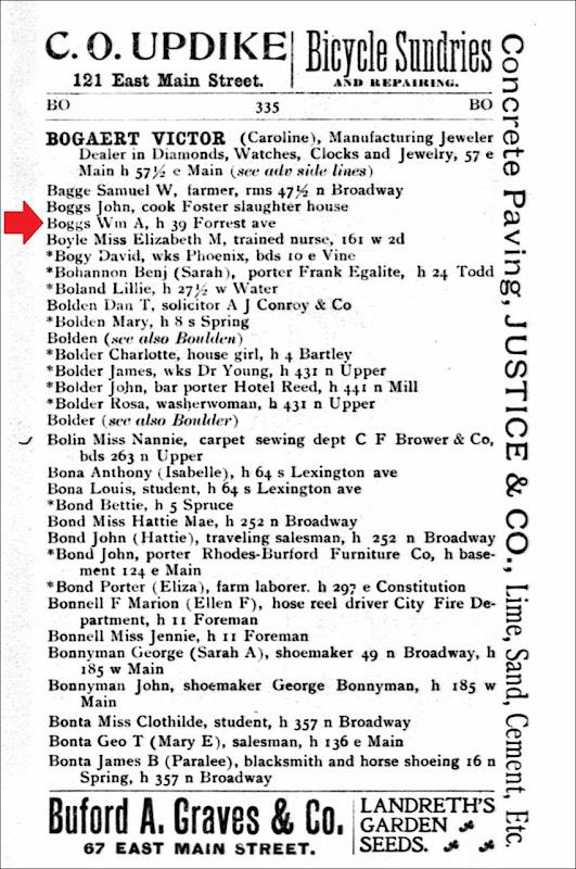 1898_BOGGS_Wm A_39 Forrest_LexingtonKY_pg 335
