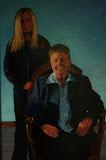 Claudia en Geesje - 50 x 120 cm - olieverf op paneel (opdracht)