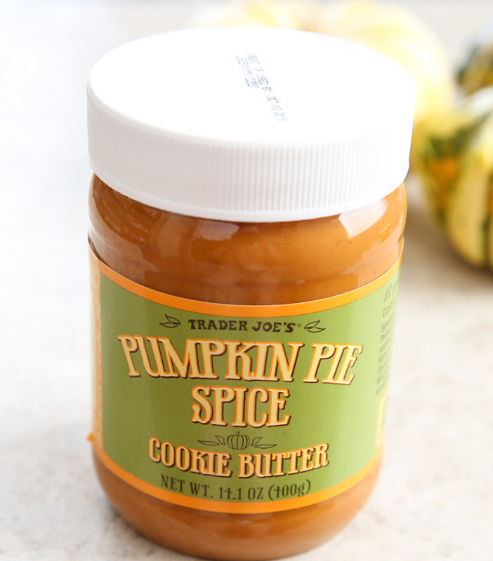 photo of a jar of pumpkin pie spice cookie butter