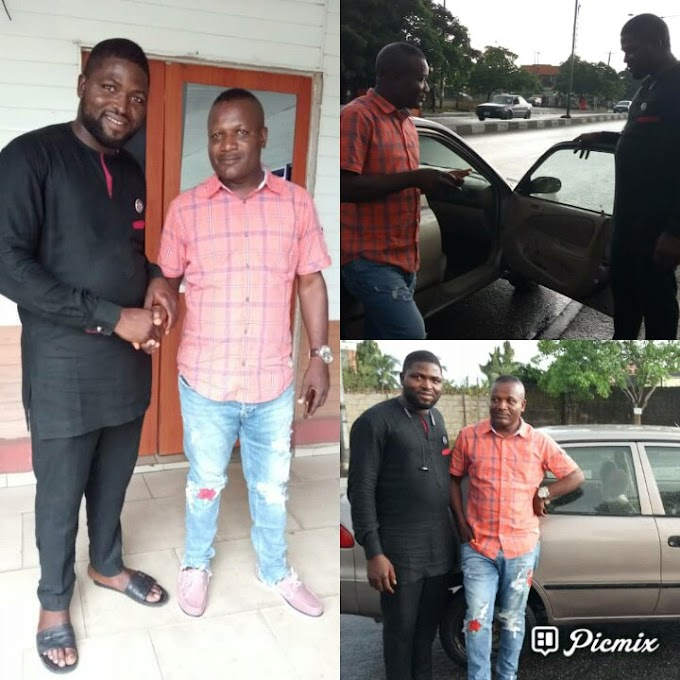 Calabar based businessman steps down for Comr Emaluji, donates vehicle to his campaign