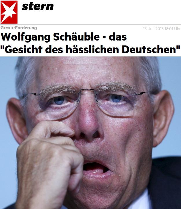 Wolfgang Schäuble - das Gesicht des hässlichen Deutschen