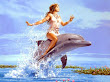 Girl Riding The Dolphin