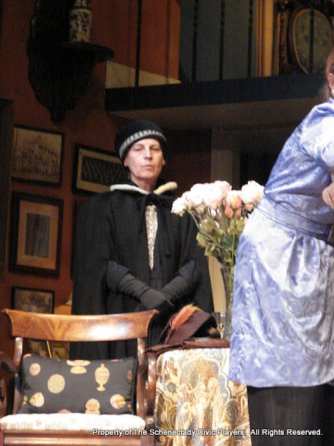Bonnie R. Lake in THE ROYAL FAMILY (R) - December 2011.  Property of The Schenectady Civic Players Theater Archive.