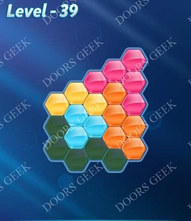 Block! Hexa Puzzle [Intermediate] Level 39 Solution, Cheats, Walkthrough for android, iphone, ipad, ipod