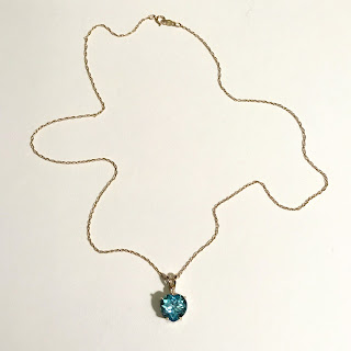 14K Gold, Crystal, and Diamond Pendant Necklace